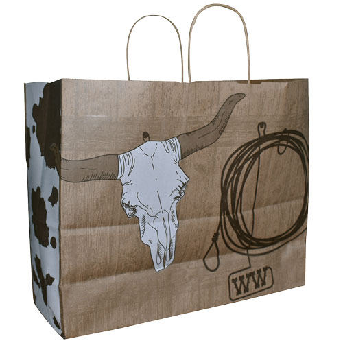 9035-M SKULL & BRAND SHOPPING BAG (MED)