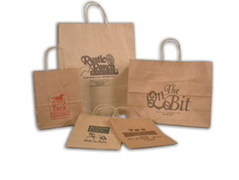 NATURAL BROWN KRAFT SHOPPING BAGS